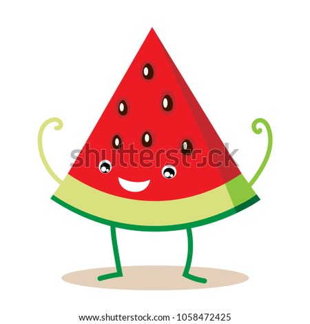 funny watermelon clipart eps 10 stock vector hd royalty free rh shutterstock com watermelon clipart images watermelon clipart free