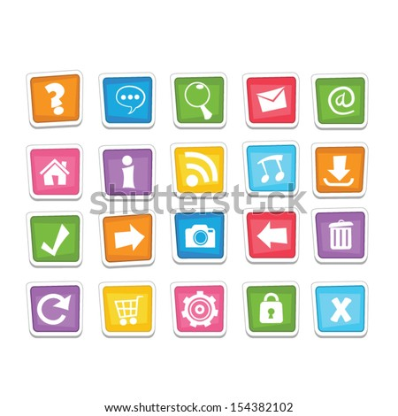 Funny Web Buttons - stock vector