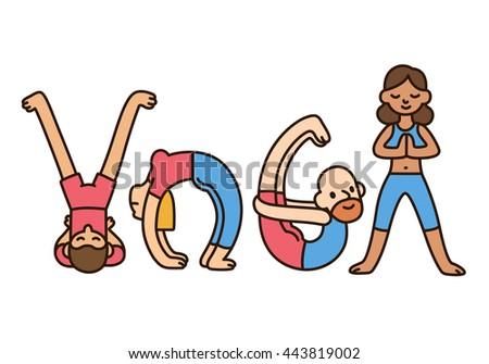 funny yoga illustration cute cartoon style stock vector 443819002 rh shutterstock com Zen Lotus Clip Art Special Education Clip Art