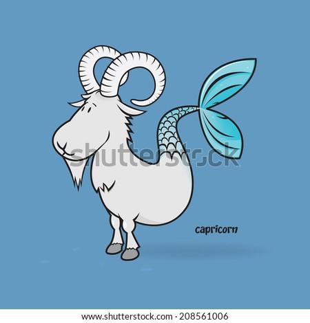funny zodiac/capricorn - stock vector