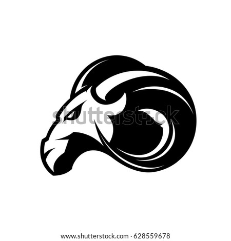 furious ram sport club vector logo stock vector 628559678