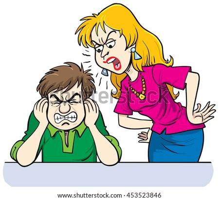 stock-vector-furious-woman-shouting-at-m