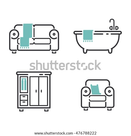 Modern Furniture Icon closet basin stock photos, royalty-free images & vectors