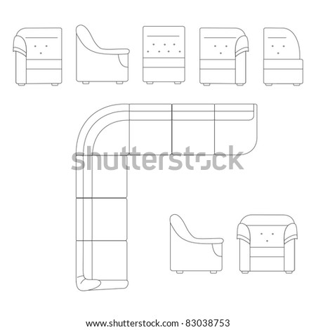 Furniture for a room - stock vector