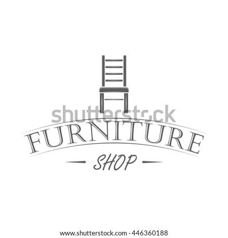 vintage furniture logo. Exellent Vintage Furniture Shop Logo In Retro Style On White Background Vintage Emblem  Badge And Label In Logo