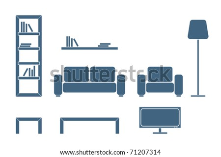 Furniture silhouette - stock vector