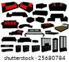 furniture silhouettes - stock vector