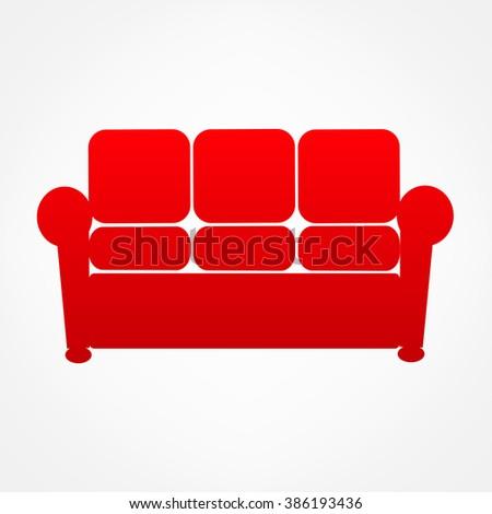 Furniture Sofa vector - stock vector