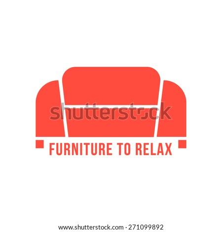 Furniture Logotype Green Sofa Icon Concept Stock Vector 261629462 ...
