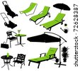 furniture vector silhouettes - stock photo