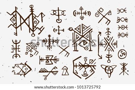 Futhark Norse Islandic Viking Runes Set Stock Vector Royalty Free
