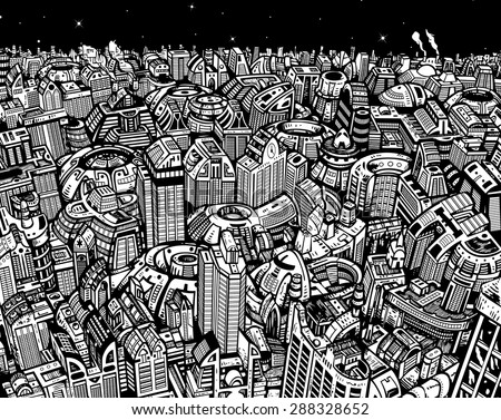 Future City  - stock vector