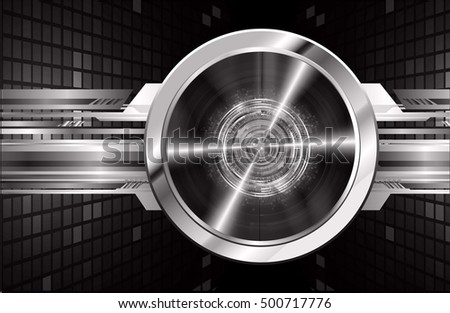 future technology, black eye light cyber security concept background, abstract hi speed digital data internet website. motion move speed blur. eyeball pixel