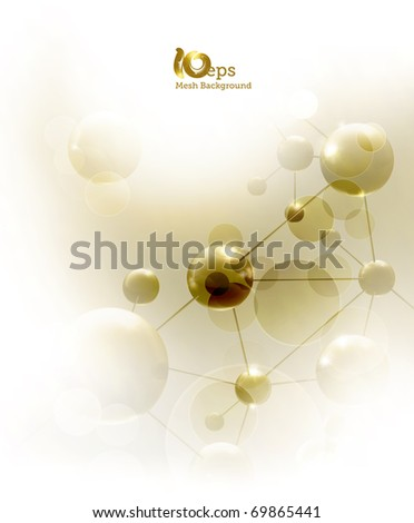 Futuristic background with molecules, eps10 - stock vector