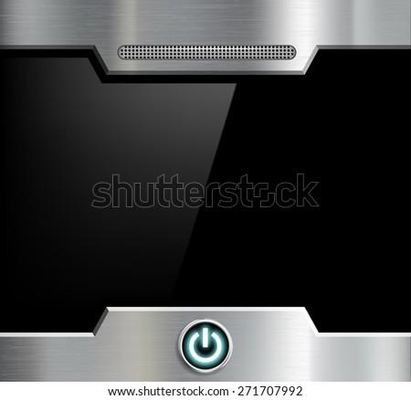 Futuristic black screen. Vector image. - stock vector