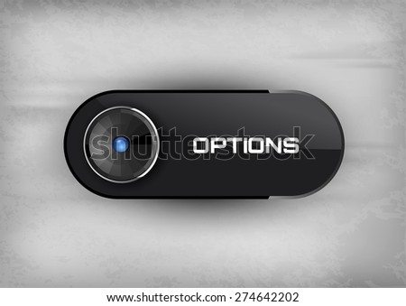 Futuristic button OPTIONS. Vector icons. - stock vector