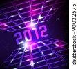 futuristic 2012 card vector background - stock vector