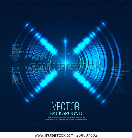 Futuristic circle abstract background. Vector illustration - stock vector