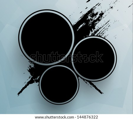 Futuristic circles template. EPS10. - stock vector