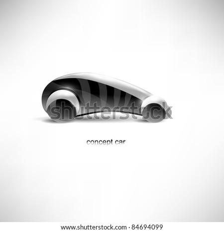 futuristic concept car - stock vector