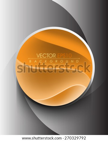 futuristic elegant geometric circle with waves inside with shadow eps10 vector background - stock vector