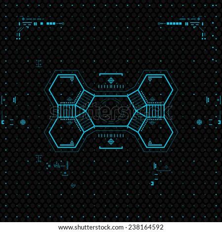 Futuristic Graphic User Interface. - stock vector