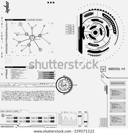 Futuristic graphic user interface - stock vector