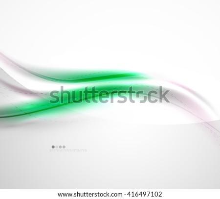 Futuristic green color in wave template. Vector illustration - stock vector