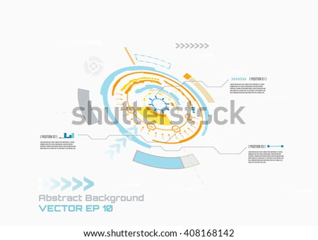 Futuristic interface  for your infographic design, HUD,  Abstract futuristic circuit board, hi-tech computer digital technology concept, vector background. - stock vector