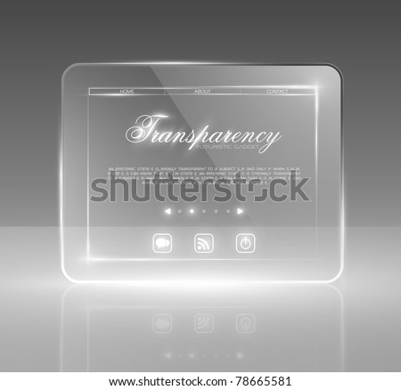 Futuristic minimal design with huge space for information. Fully editable - stock vector