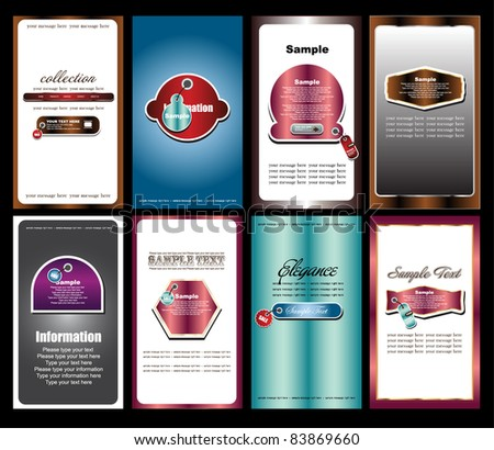 futuristic name card collection - stock vector