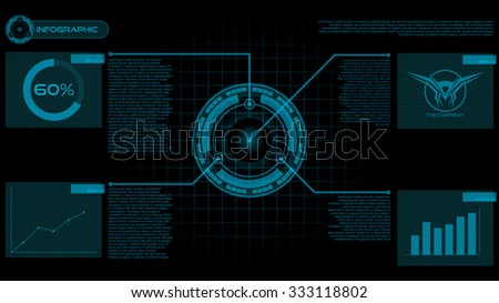Futuristic Presentation Infographic User Interface HUD