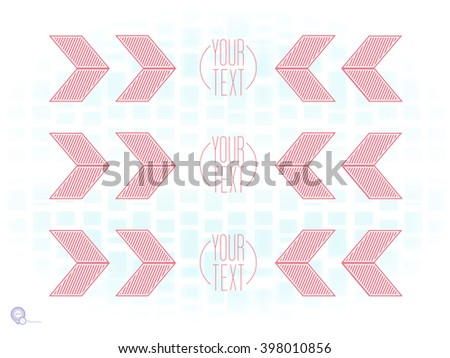 Futuristic Red Brackets on a Blue Virtual Mosaic Background - stock vector