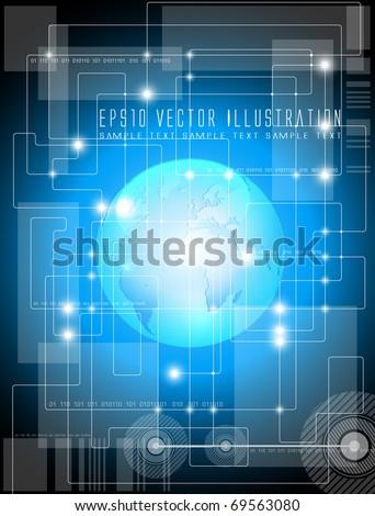 Futuristic technology background - vector illustration - stock vector
