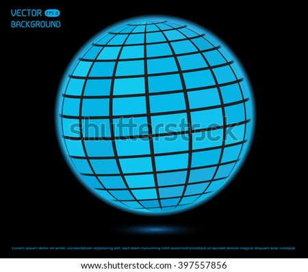 Futuristic technology sphere.Abstract logo template.Vector sphere design.