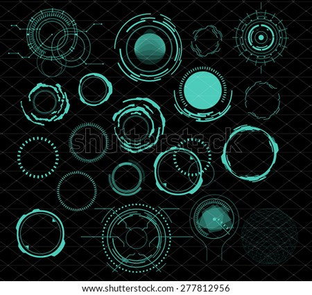 futuristic user interface HUD - stock vector