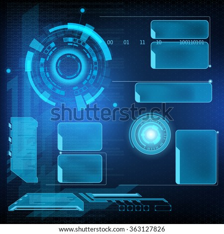 Futuristic user menu interface HUD. Abstract background. Stock vector illustration. - stock vector