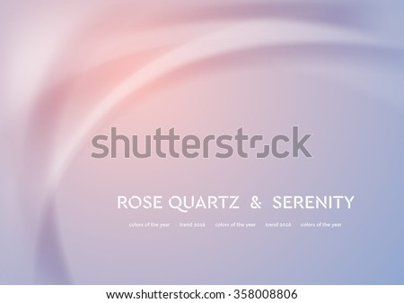 Futuristic vector illustration with smooth waves. Trend colors of the year 2016 rose quartz and serenity. Modern curves background - stock vector