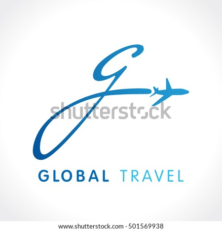 G fly travel company logo airline stock vector 501569938 for Global design company