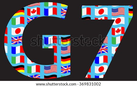 G7 icon pattern flag. World country, international pattern, sign or symbol great summit. Vector art abstract unusual fashion illustration - stock vector