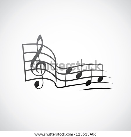 g key and notes in one tact logo - illustration - stock vector