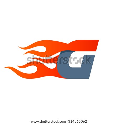 G Letter Logo Design Template Fast Fire Speed Vector Unusual