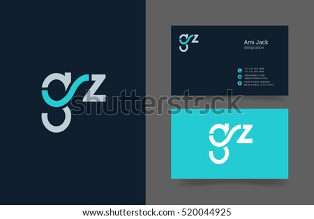G z letter logo business card stock vector hd royalty free g z letter logo with business card template thecheapjerseys Gallery