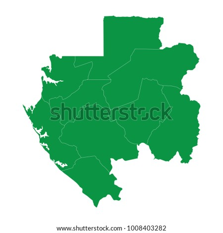 Gabon Map Isolated On Transparent Backgroundtransparent Stock - Gabon blank map