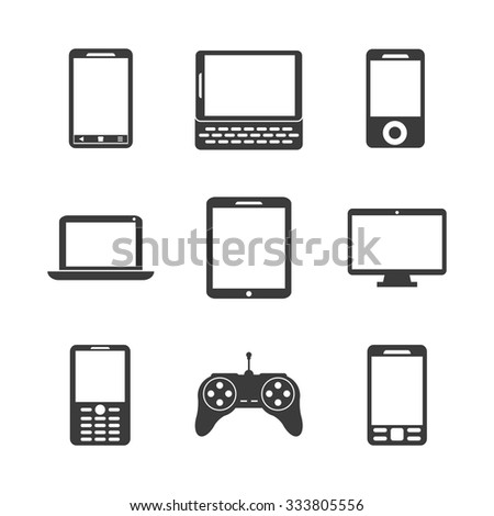 Gadget concept with devices icons design, vector illustration 10 eps graphic. - stock vector