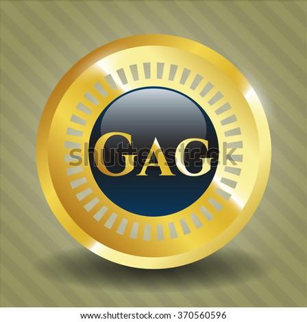 Gag golden emblem - stock vector