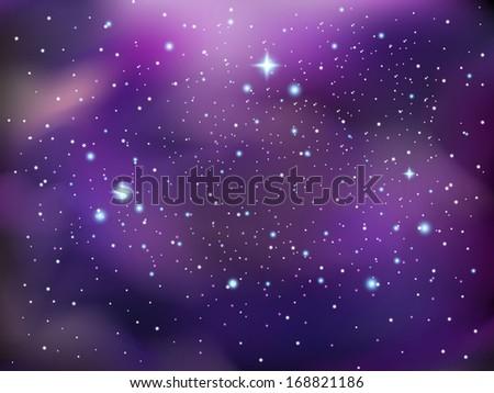 Galaxy background - stock vector