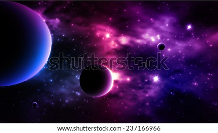 Galaxy background. Vector - stock vector