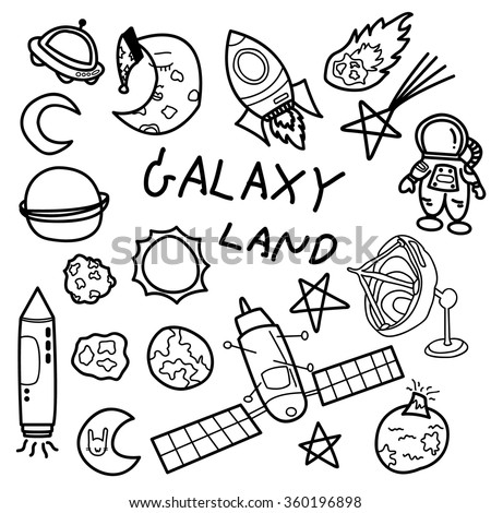 Galaxy Land Doodle Draw Set