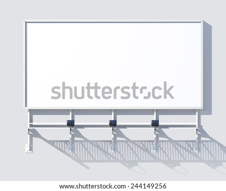 Gallery billboard blank advertising frame isolated on white background vector illustration - stock vector